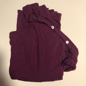Old Navy Long Sleeve Purple Top with buttons